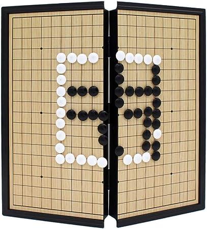 Ouqian Go Set Juego Juego de Juego magnético Go con Piedras plásticas magnéticas convexas Individuales y Tablero de Regalo Gran Regalo Estrategia Juego de Mesa (Color, Size : 25cm*25cm*2cm): Amazon.es: Hogar