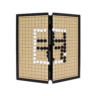 Dfghbn Set di Giochi magnetici Go con Singole Pietre di plastica Magnetica convesse e Scheda Go (Colore, Dimensione : 25cm*25cm*2cm)