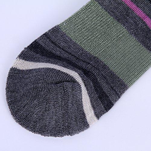 Enerwear 4 Pack Women's Merino Wool Outdoor Hiking Trail Crew Sock (US Shoe Size 4-10½, Violet/Gray/Multi) by Enerwear (Image #9)