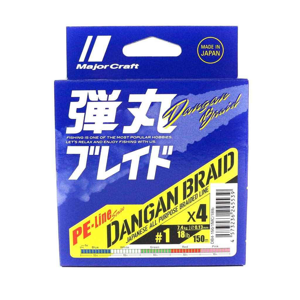 Major Craft X 4 Braid Line Dangan Blade 150m//Multi Color PE 1 150m Color Blanco Cable de Audio