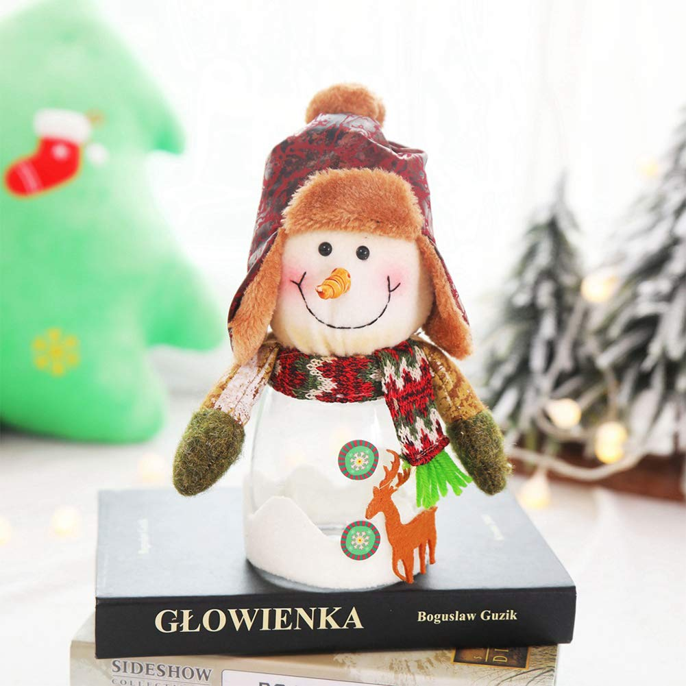 Buy Dishykooker Christmas Cute Doll Decoration Snowman Xmas Transparent Candy Jar Gift Snowmanchristmas Gift Online At Low Prices In India Amazon In