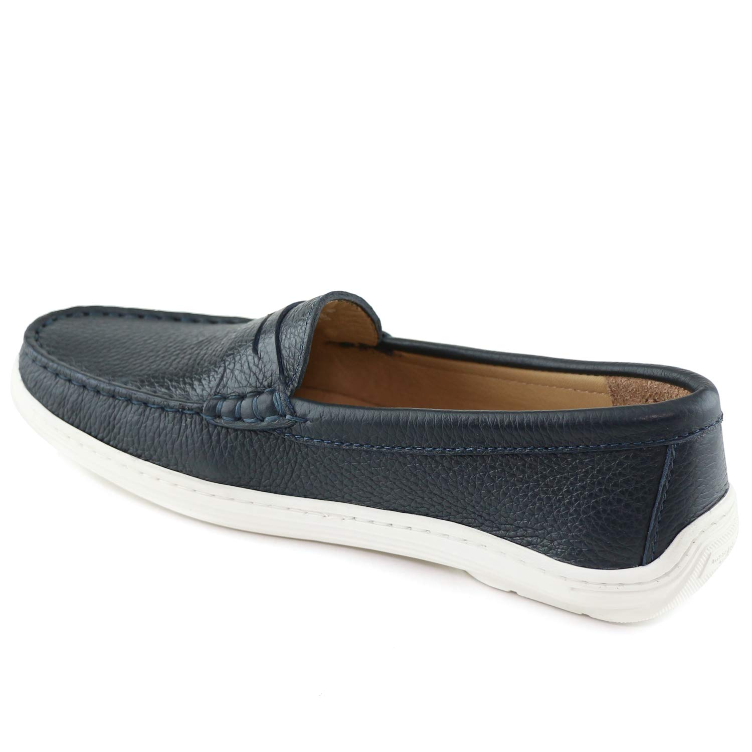 MARC JOSEPH NEW YORK Kids Boys/Girls Casual Comfort Slip On Penny Loafer Navy Grainy 5.5 by MARC JOSEPH NEW YORK (Image #2)