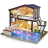 Paraizo ドールハウス 手作りキット ミニチュア Magic House マジックハウス Time apartment LED オルゴール カノン 防塵ケース