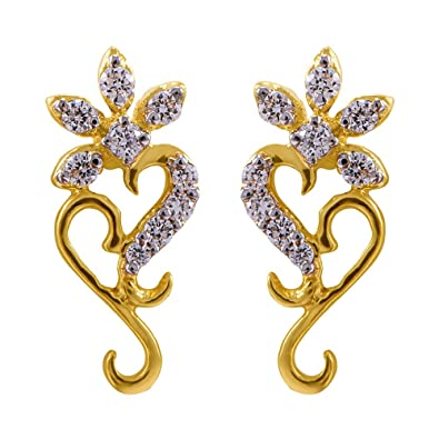 191e46612 Buy Joyalukkas 18k Yellow Gold and Diamond Stud Earrings for Women Online  at Low Prices in India | Amazon Jewellery Store - Amazon.in