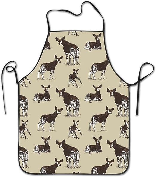 Amazon Com Chefs Delantal Okapi Dibujos Divertido Delantales De