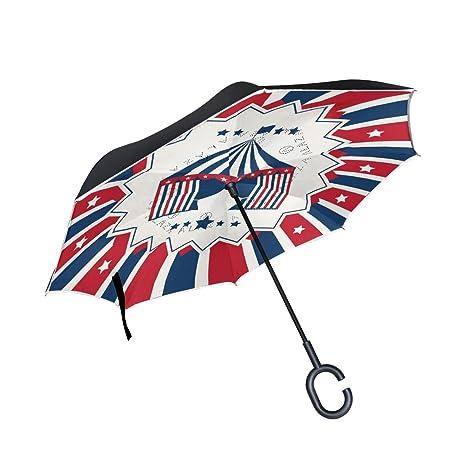 124cfb848dd4 Amazon.com : Jojogood Circus Background Inverted Umbrella Reverse ...