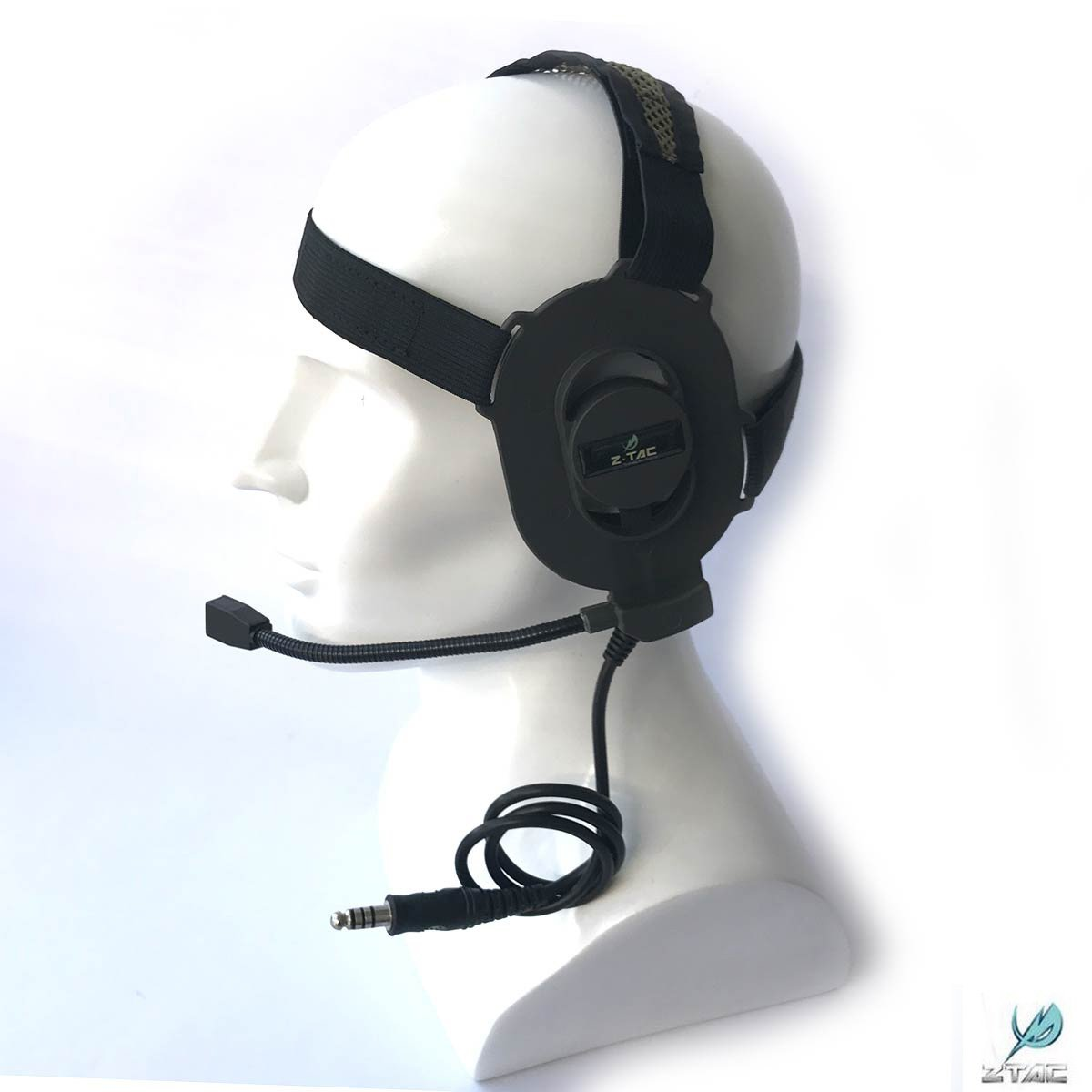 ATAIRSOFT Z-TAC Z027 Microphone Elite II Doulbe Side Tactical Adjustable Headset (FG)