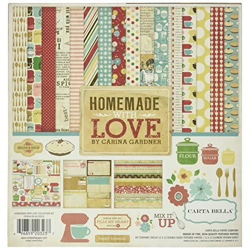 Echo Park papier Carta Bella Collection Kit de 30,5cm x 30,5cm, fait maison avec amour