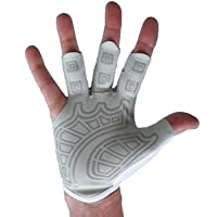 Rowing Gloves & Gym Gloves - Left Hand Smooth Palm - Best Comfortable Scull Fingerless Gloves for Men Women (X - Large 23-25 cm)