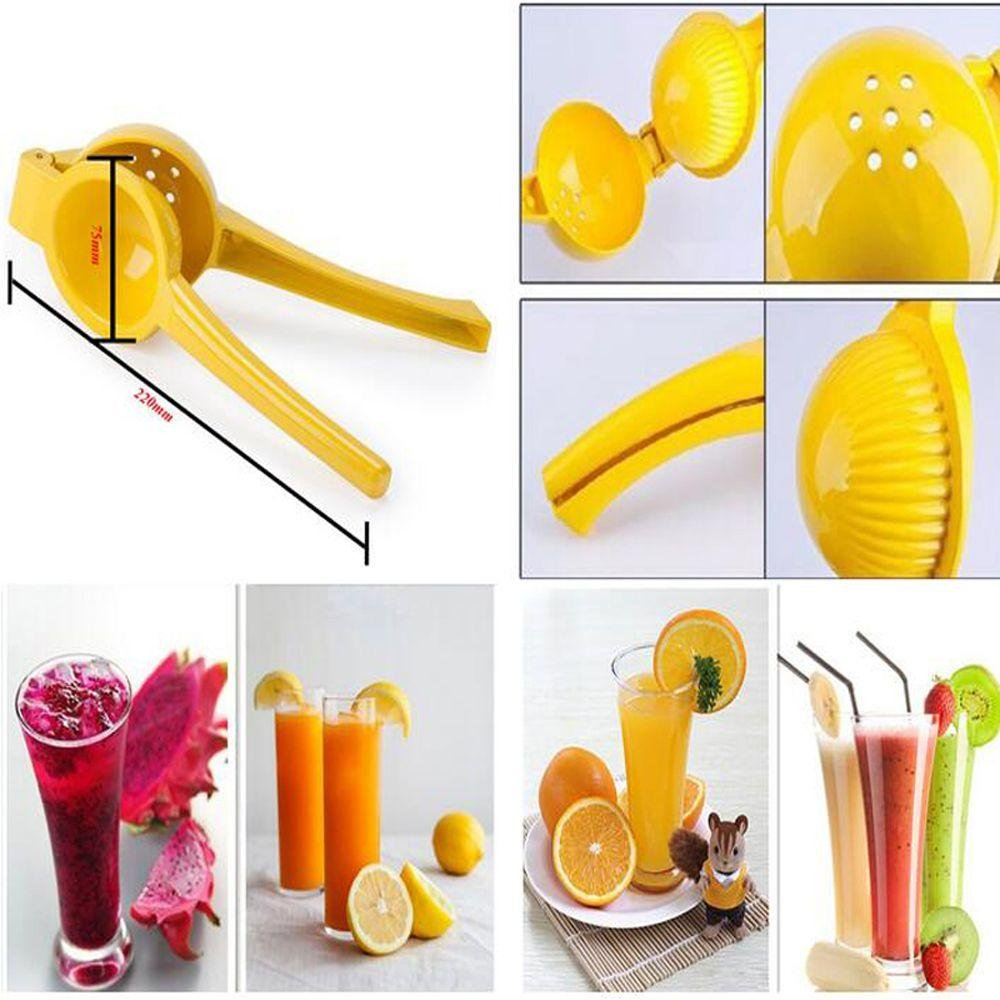 Amazon com pocktyle random color manual kitchen tool juice fruit lime citrus press lemon squeezer lemon clamp health personal care