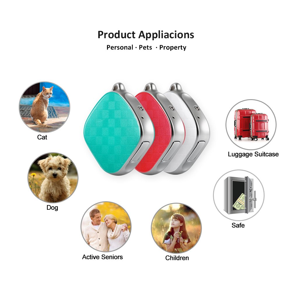 Mini GPS Tracker Kids Child GPS Locator Real Time Tracking Device No Monthly Fee MT9 Free Web APP Tracking (White) by Micodus (Image #2)