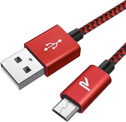 Cable Micro USB, RAMPOW 2M Cargador Micro USB 2.4A Carga Rápida ...