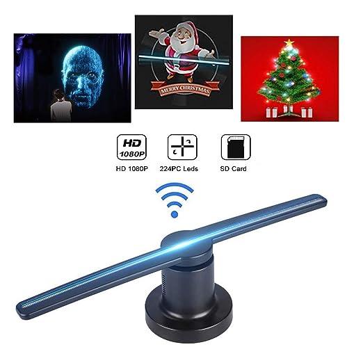 3D Proyector Holográfico - Proyector Publicitario, Apoyo MP4/AVI ...