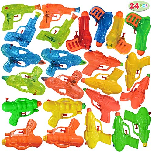JOYIN 24 Pack Assorted Water Gun Water Blaster Soaker Summer Swimming Pool Beach Toy Water Squirt Water Fight Toys