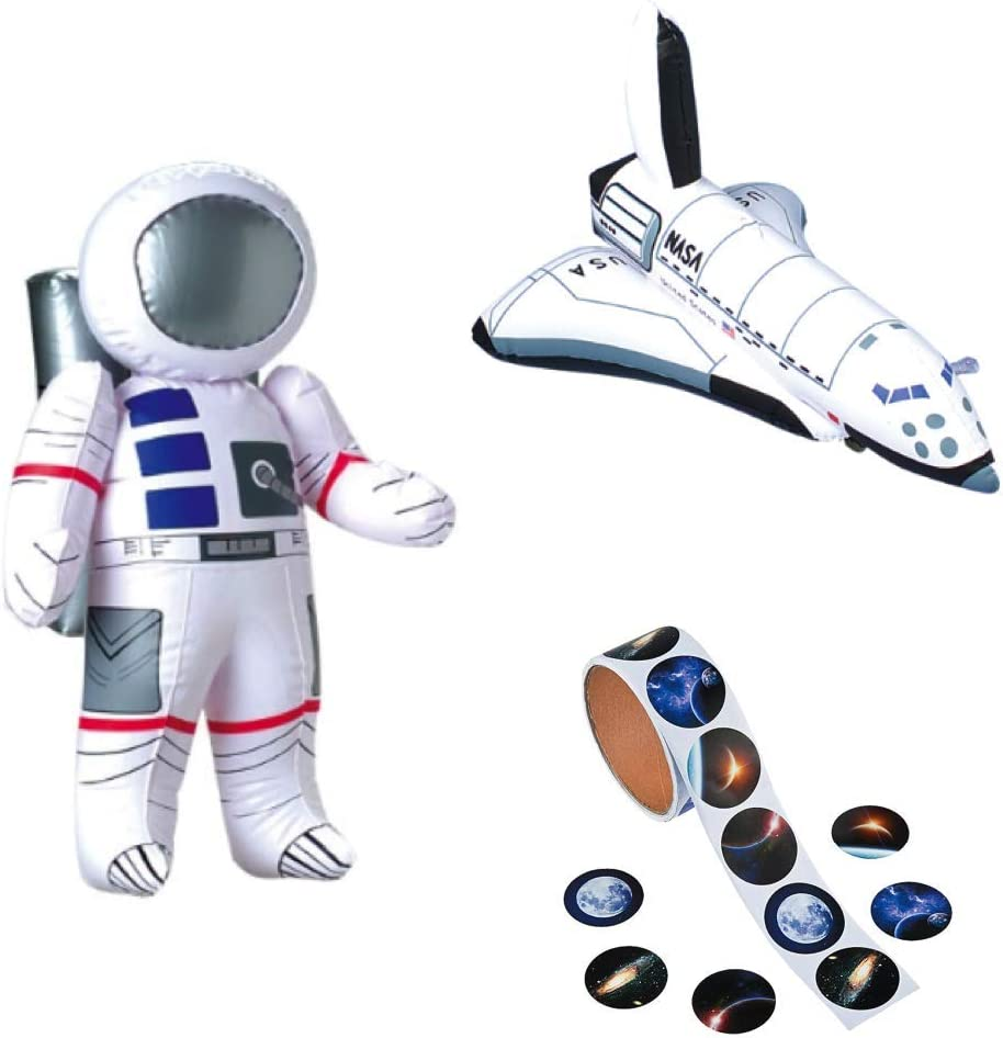 """24/"""" Astronaut 3 Robot Inflatable Inflate Blow Toy Party Decoration Set of 4"""