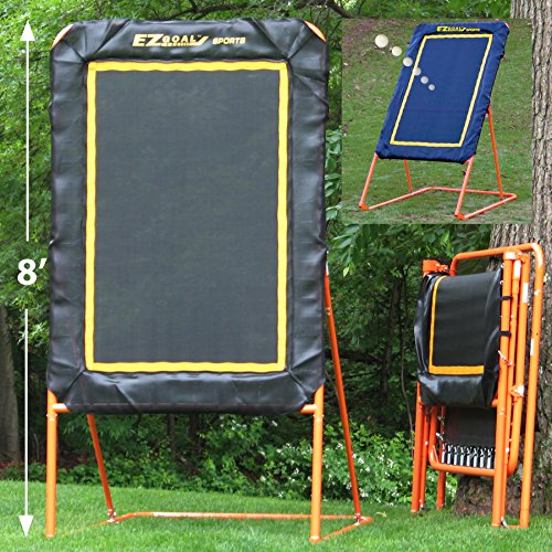 EZ Goal Professional Folding Lacrosse Throwback Rebounder, 8 (Steel Rebounder)