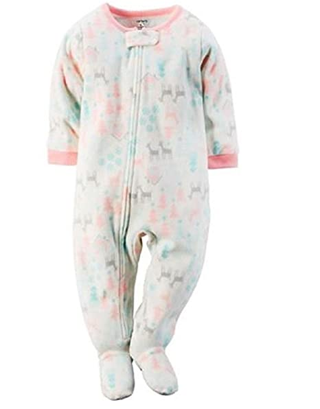 fe3058dce Amazon.com  Carter s Baby Girl s Winter Deer Snow Themed Fleece ...