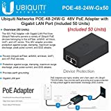 Ubiquiti POE-48-24W-G (50 Units) PoE Adapter 5A 24W for Rocket-Ti and UAP-Pro