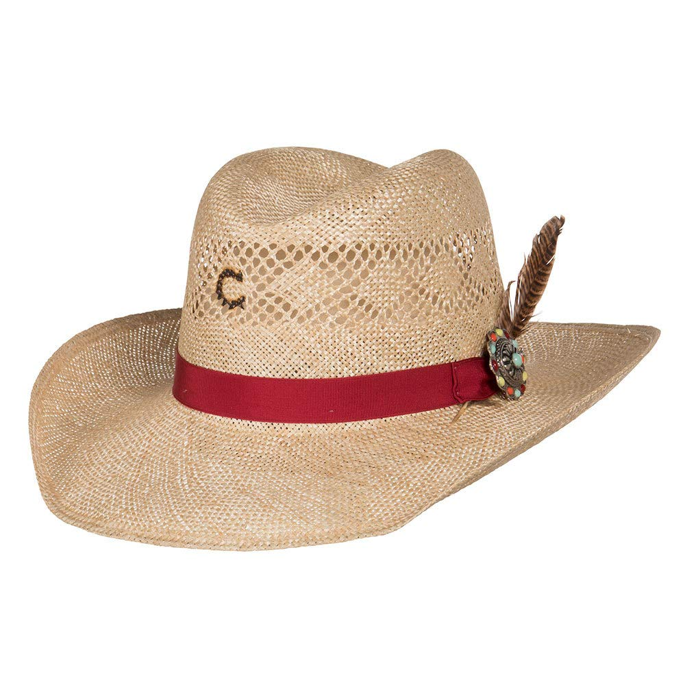 Charlie 1 Horse Hats Womens Stud Finder 3 1/2 Brim Sisal Straw L Natural by Charlie 1 Horse Hats (Image #1)