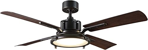 Nautilus Indoor Outdoor 4-Blade Smart Ceiling Fan 56in Oil Rubbed Bronze with 3500K LED Light Kit and Wall Control works with iOS Android, Alexa, Google Assistant, Samsung SmartThings, and Ecobee