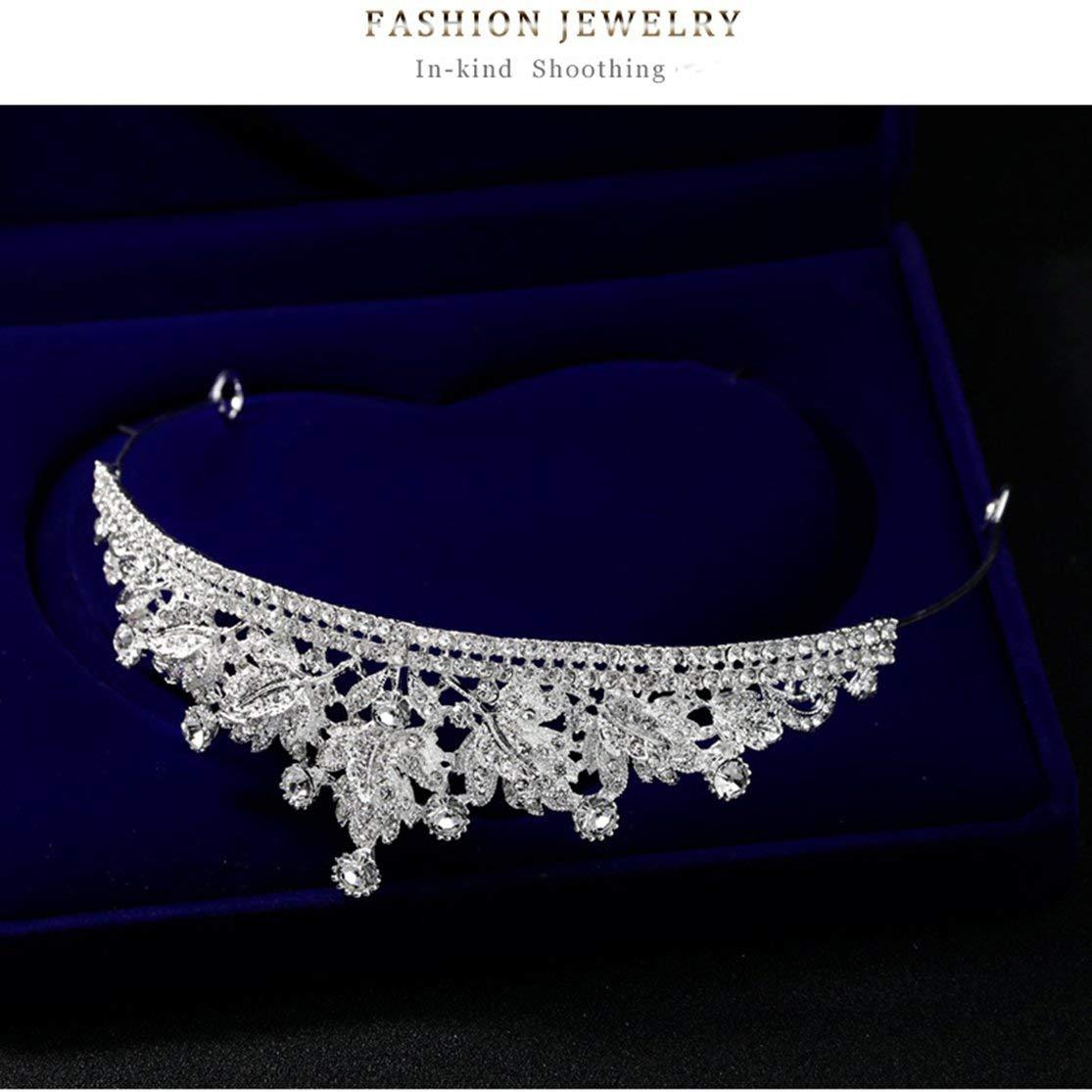 CHANNIKO-UK DA007-A Rhinestone Tiara Headband Crystal Bridal Crown Tiaras Hair Jewelry Wedding Headpiece Hair Accessories