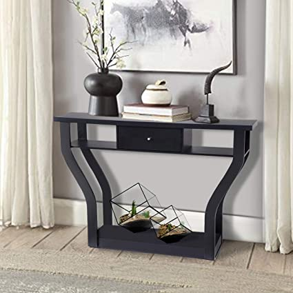 Giantex Console Hall Table For Entryway Small Space Sofa Side