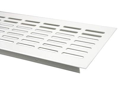 Aluminium L/üftungsgitter Stegblech L/üftung 100mm x 1000mm in verschiedenen Farben Schwarz pulverbeschichtet