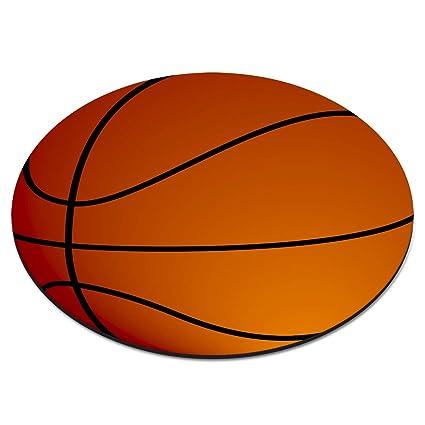 Baloncesto Bola Circular Alfombra Ratón Ordenador PC: Amazon ...