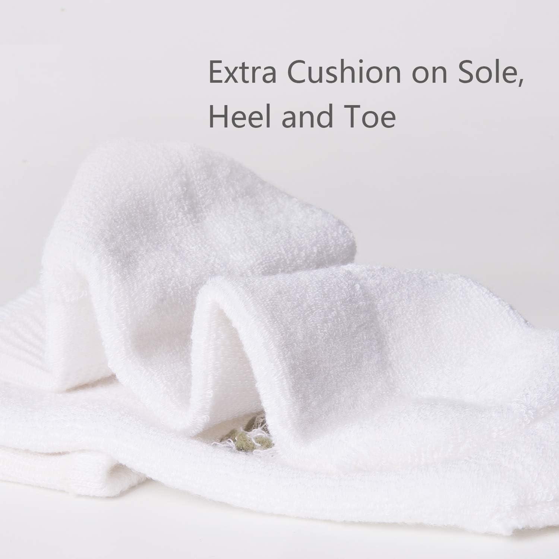 +MD 6 Pack soft Socks Mens and Womens Bamboo Crew Socks Antibacterial Cushioned Dress Casual Socks