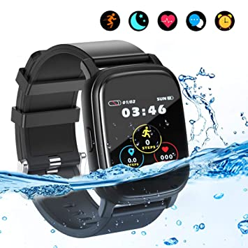 BYTTRON Smart Watch Fitness Tracker, Bluetooth Smartwatch IP68 a Prueba de Agua con Monitor de sueño de frecuencia cardíaca Call Remind Activity ...