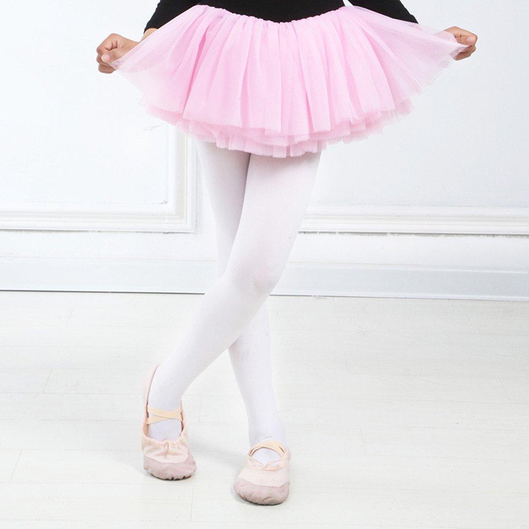 DoGeek Calzamaglia Bambina Collant Bimba in Coprente evelluto 90D Perfetto per Danza Classe o Performances