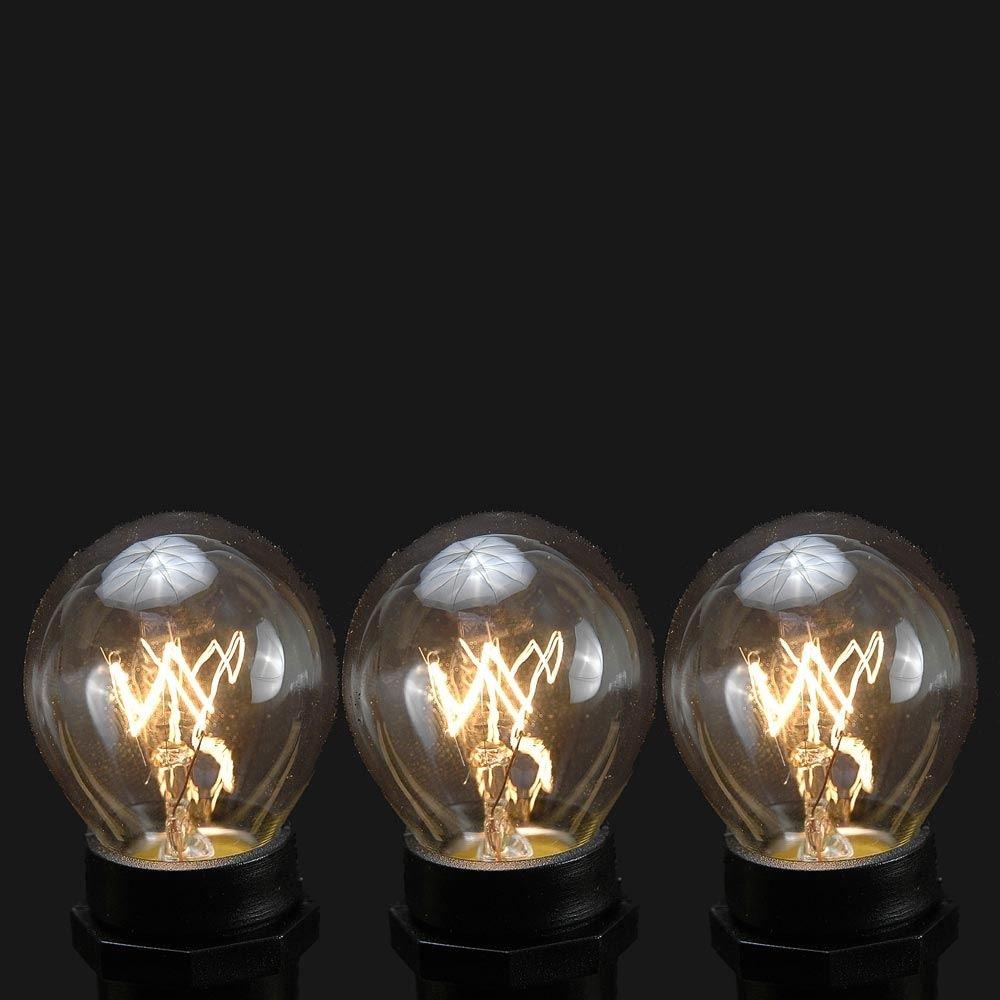 Novelty Lights, Inc. S11-10W Commercial Grade Christmas Replacement Bulbs, Intermediate Base (C9/E17), S11 Globe Shape, Clear, 10 Watt, 25 Pack