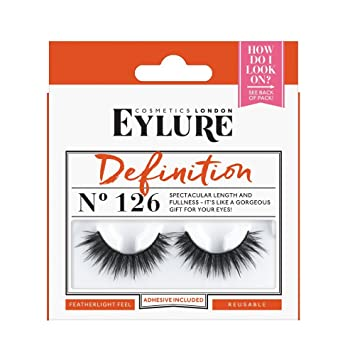 4f861eacd2f Amazon.com : Eylure Definition False Lash, Style No. 126, Reusable,  Adhesive Included, 1 Pair : Beauty