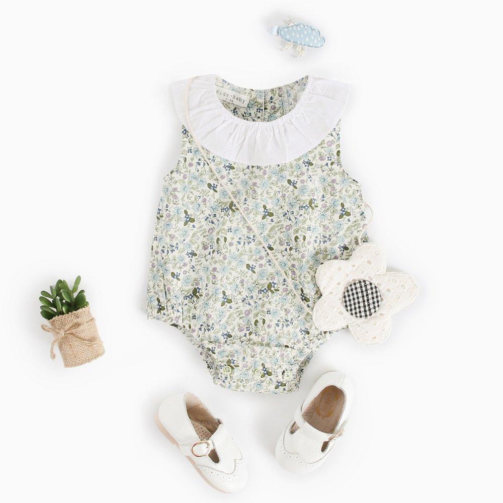 Sanlutoz Baby M/ädchen Blumen /Ärmellos Strampelh/öschen Blume Drucken Baumwolle Neugeborenes M/ädchen Bodysuit