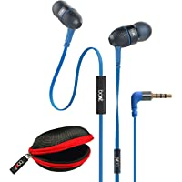 boAt BassHeads 225 Special Edition in-Ear Headphones with Mic and Carrying Case (Blue)