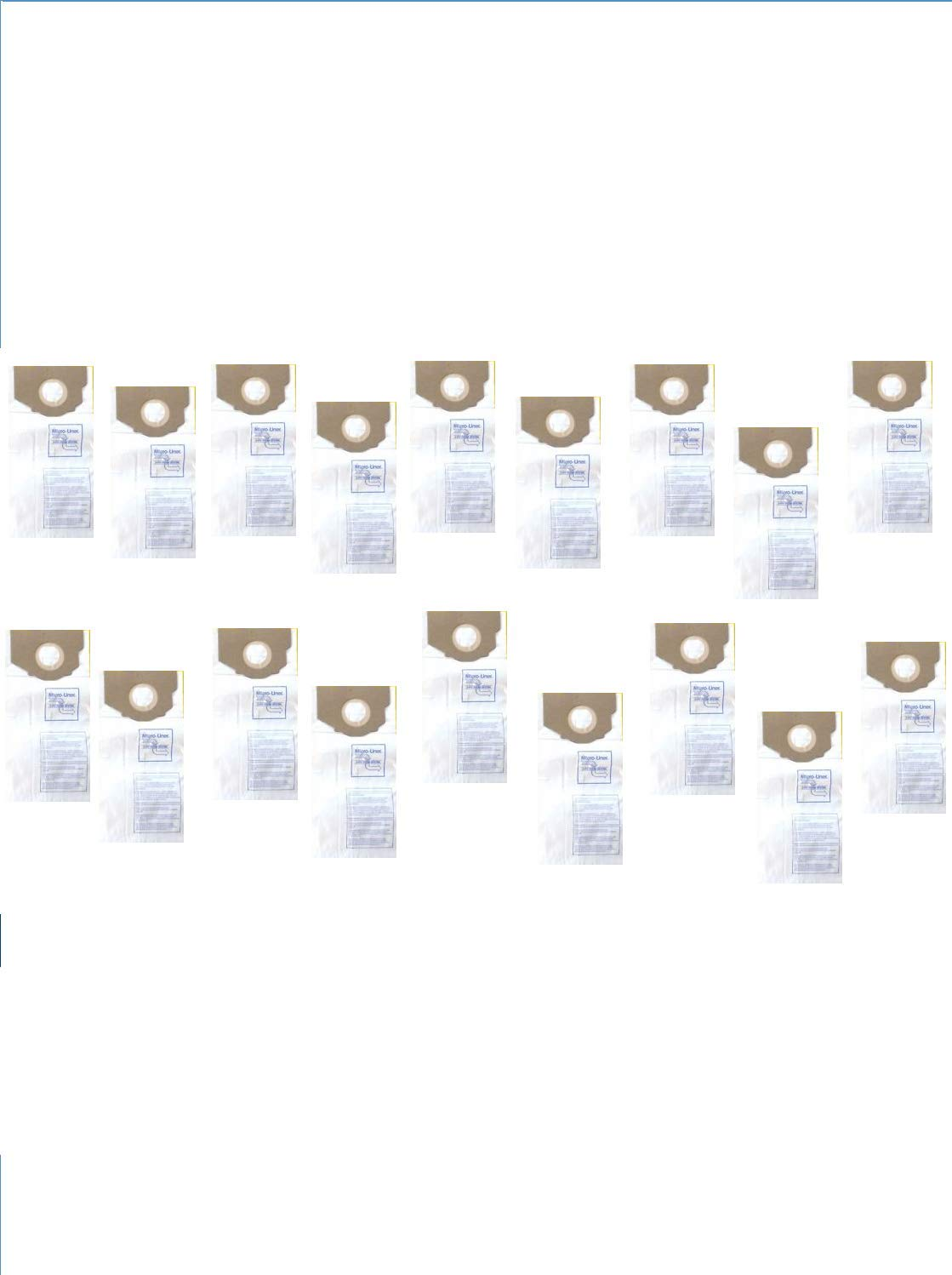 DVC Products Replacement for Eureka RR Micro-Lined Vacuum Cleaner Bags. Case of 100