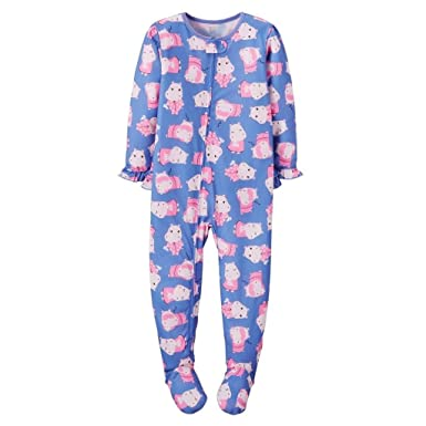 0c55ee3d5 Amazon.com  Carter s Just One You Baby Girls  Hippo Footed Pajamas ...