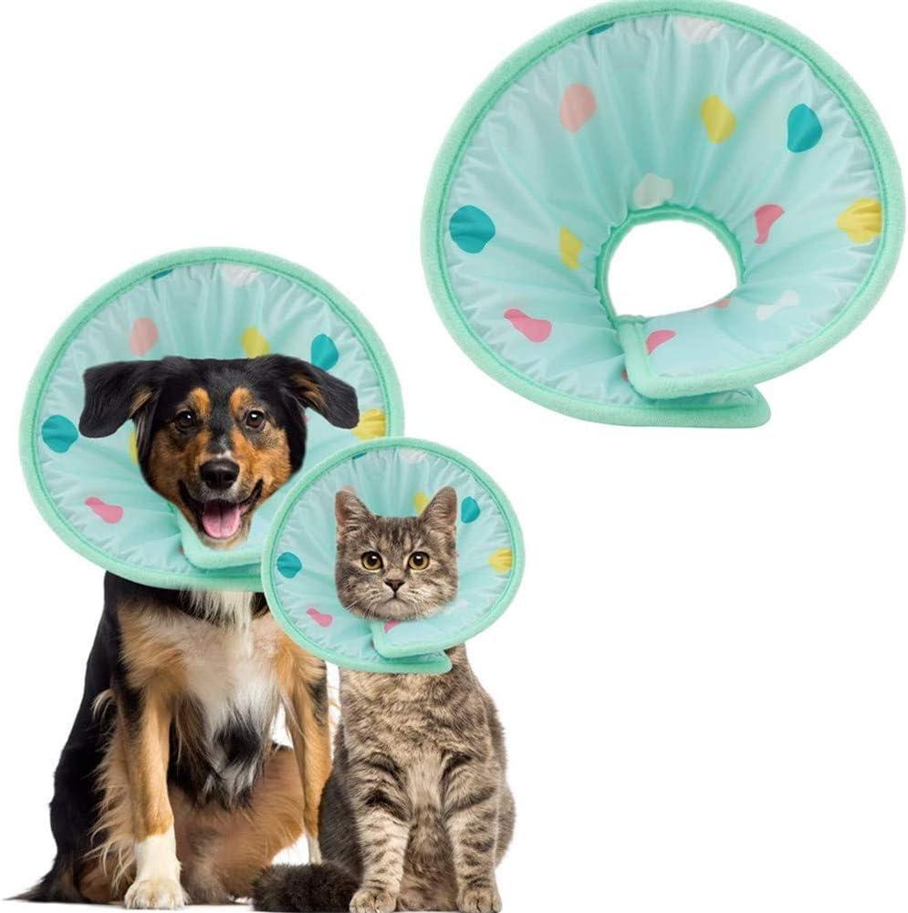 wpaacb Collar Isabelino Gato Collar Isabelino Perro Los Perros Collar Protector de Gato Collares Cono Ajustable Mascotas Cono Cuello Anti mordida para Perro M