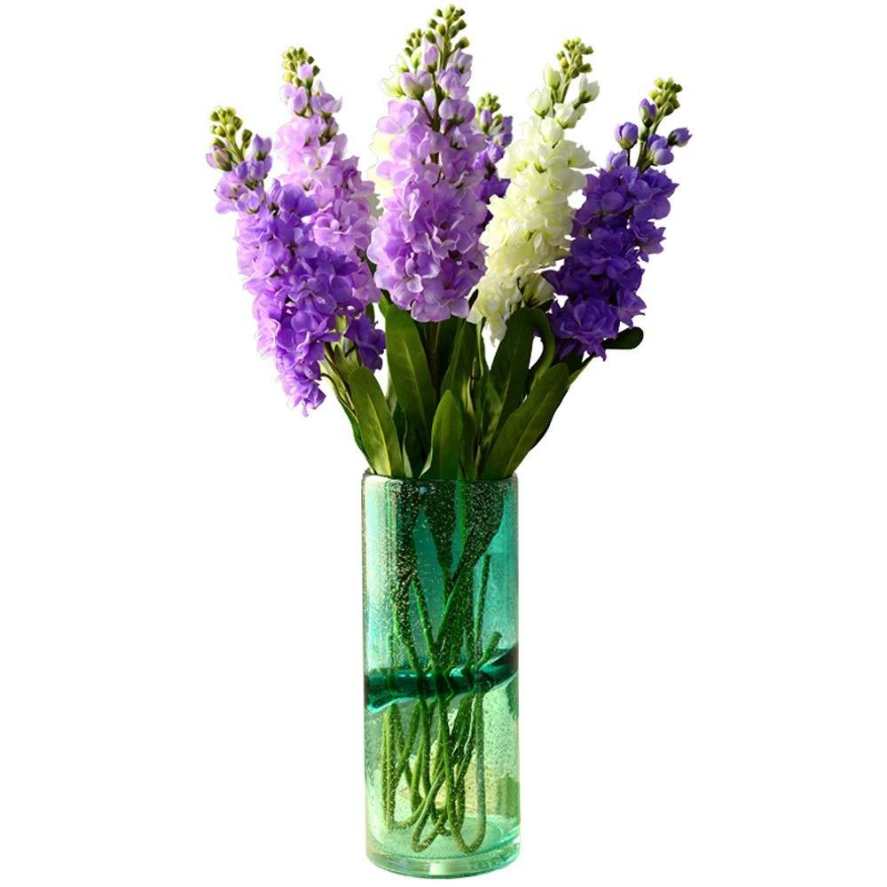 色ガラス花瓶用花緑植物結婚式の植木鉢装飾ホームオフィスデスク花瓶花バスケットフロア花瓶 B07QTHP682