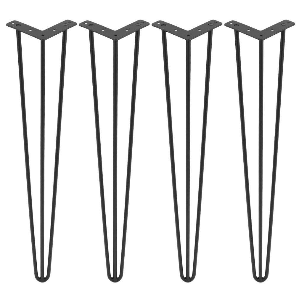 Homgrace Heavy Duty Hairpin Table Legs, Black Steel 3 Rods Hairpin Coffee Table Legs for Coffee and End Tables, Home Furnitures. 22''/24''/28''/30''/34'' Set for 4 Mid Century Modern Legs by (30 inch)