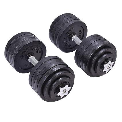 Amazon.com : giantex 200 lb weight dumbbell set adjustable cap gym