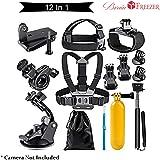 Brain Freezer J 12 in 1 Sports Action Camera Accessories Kit for Xiaomi Yi 4K,Black