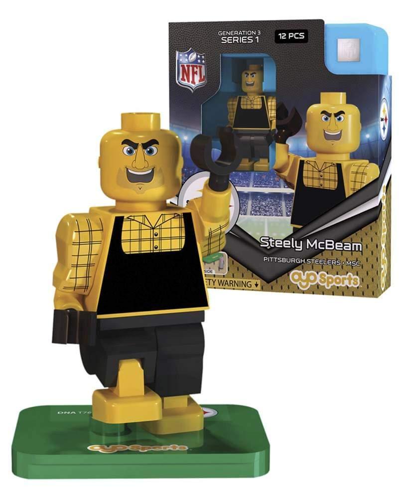 Steely McBeam NFL OYO Pittsburgh Steelers Mascot Generation 3 Series 1 G3 Mini Figure ... B01087DPI8