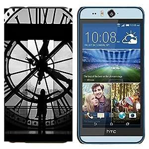 YiPhone /// Prima de resorte delgada de la cubierta del caso de Shell Armor - Arquitectura Big Ben Clok interior - HTC Desire Eye M910x