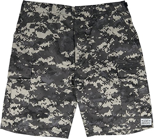 Army Universe Subdued Urban Digital Camouflage Military BDU Cargo Shorts Pin Size Medium (Waist 31-35