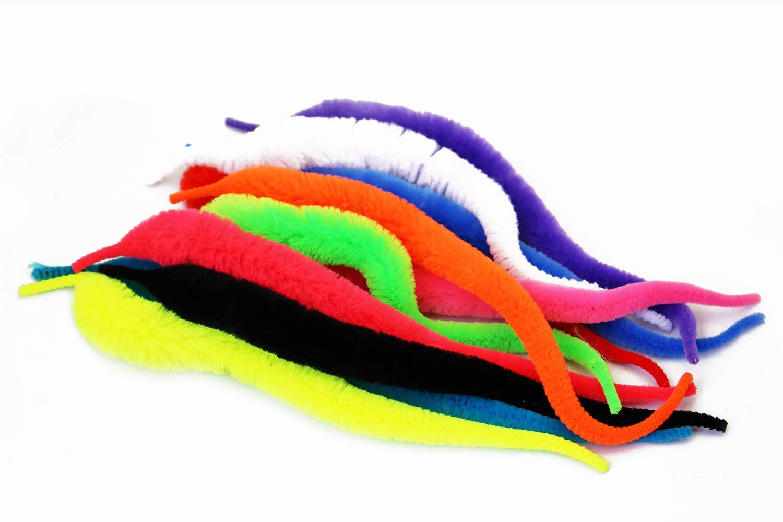 Hecht Tigofly 11 Farben Fliegenfliegenfliegenflossenschwanz Fliegenfische Chenille-Materialien Salzwasserk/öder Schlange Wackelschwanz Stahlkopf