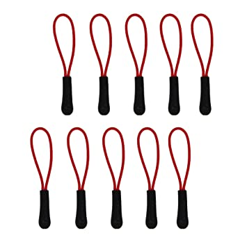 10 X Reißverschlusszipper Zipper Anhänger Reißverschlussanhänger Schwarz Neu^
