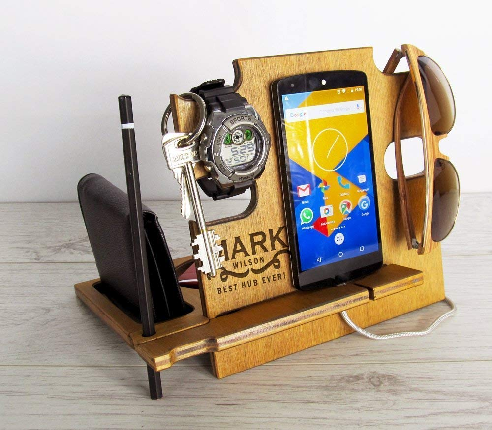 Christmas Gift for Man, Docking Station, Gift for Men, Christmas Gift for Friend, Christmas gift for Boyfriend, Christmas Gift for Husband, Charging Station, iPhone Accessories, Android Accessories
