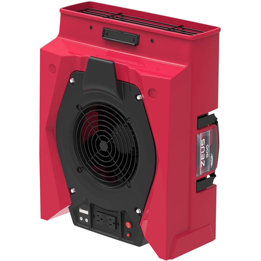 AlorAir Zeus 900 Air Mover Commercial Blower for Carpets, Walls, Plumbing Use, Variable Speed Floor Blower Fan, 950 CFM with 1.8 Amps,Circuit Breaker Protection,on-Board Duplex GFCI