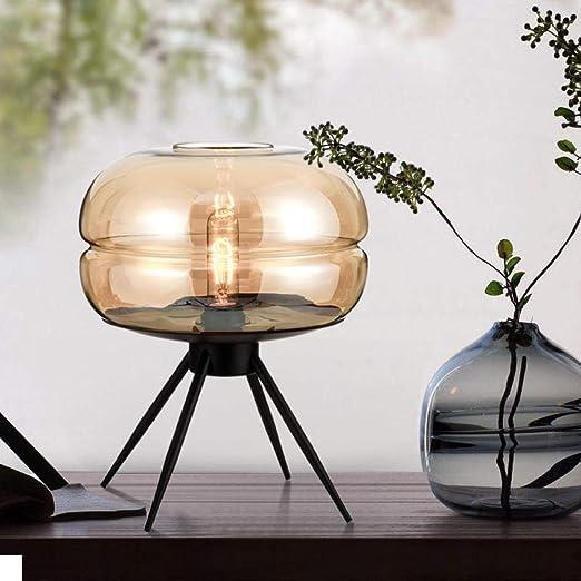 Lámpara de mesilla moderna Lámpara de mesa Vidrio simple Sala de ...